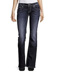 Miss Me Five Pocket Bootcut Jeans Dark Blue