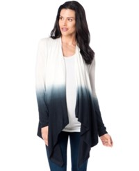 Design History Maternity Dip Dyed Draped Cardigan Blue White Ombre