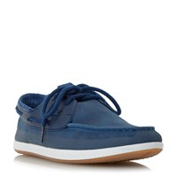 Lacoste L.Andsailing Lace Up Boat Shoe Navy