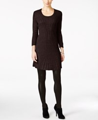Ny Collection Petite Cable Knit Sweater Dress Coco Velvet