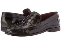 Ted Baker Rommeo Dark Grey Burnished Leather Men's Slip On Dress Shoes Gray
