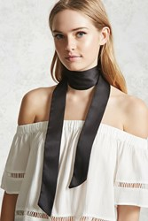 Forever 21 Satin Self Tie Bow Scarf