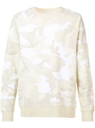 Wesc Marvin Camo Sweatshirt Men Cotton Xl Nude Neutrals