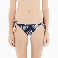 Madewell String Bikini Bottom In Flowerstamp