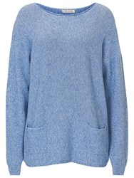 Betty Barclay Long Jumper With Pockets Dusty Blue