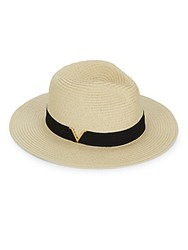Vince Camuto Paper Fedora Natural