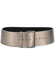 Ann Demeulemeester Textured Belt Gold