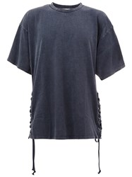 Faith Connexion Lace Up Side T Shirt Blue