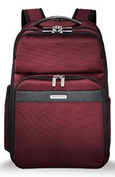 Briggs And Riley Men's Transcend 400 Cargo Backpack Red Merlot Red