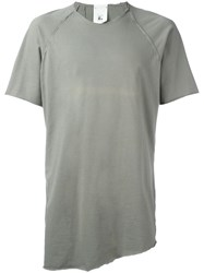 Lost And Found Rooms Seam Detailing T Shirt Green
