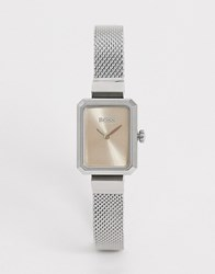 Boss Watch With Milanese Strap In Silver