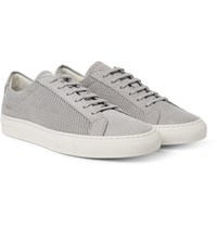 Common Projects Achilles Perforated Nubuck Sneakers Stone