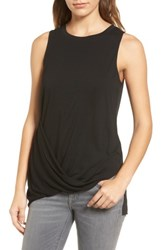 Trouve Women's Asymmetrical Drape Knit Top