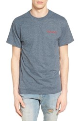 The Rail Men's Embroidered T Shirt Grey Charcoal Goat