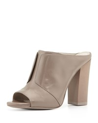 Eva High Heel Leather Mule Gray Pour La Victoire Grey