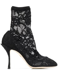 Dolce And Gabbana Coco Ankle Boots Black