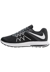 Nike Performance Zoom Winflo 3 Cushioned Running Shoes Black White Anthracite