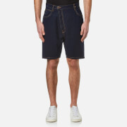 Vivienne Westwood Anglomania Men's Shady Asymmetric Shorts Blue Denim