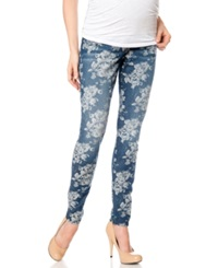 A Pea In The Pod Maternity Skinny Jeans Floral Print Wash