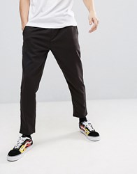Pull And Bear Pullandbear Cropped Jogger In Black
