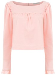 Martha Medeiros Long Sleeved Top Pink And Purple