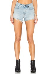 Denim X Alexander Wang Alexander Wang Bite High Rise Frayed Jean Shorts Bleach