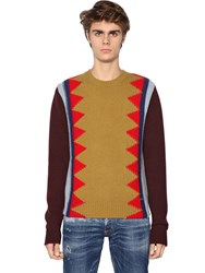 Dsquared Crew Neck Wool Blend Sweater