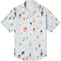 Thom Browne All Over Gnome Print Vacation Shirt Blue