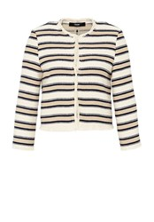 Hallhuber Striped Fringe Jacket Blue