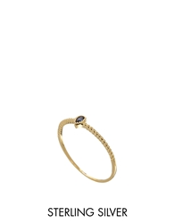Asos Gold Plated Sterling Silver September Birthstone Ring