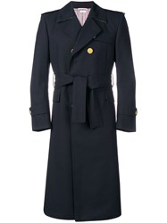 Thom Browne 2 Ply Fresco Wool Trench Coat 60