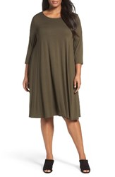 Eileen Fisher Plus Size Women's Lightweight Jersey Shift Dress Surplus