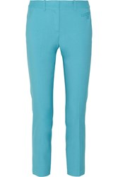 Michael Kors Samantha Stretch Wool Skinny Pants Blue