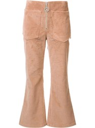 Edun Corduroy Flared Pants Pink Purple