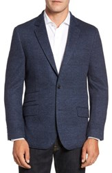Flynt Men's Big And Tall Classic Fit Cotton And Wool Jersey Sport Coat Blue