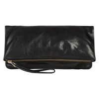 Oasis Felicity Foldover Clutch Bag Black