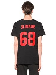 Les Artists Slimane Printed Cotton Jersey T Shirt