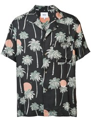 Wesc Nevin Hawaii Shirt Men Viscose Xl Black
