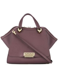 Zac Posen Eartha Iconic Jumbo Double Handle Tote Pink And Purple