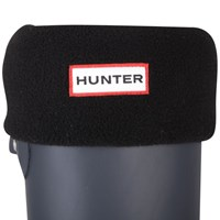 Hunter Women's Short Fleece Welly Socks Black