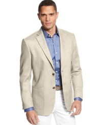 Tasso Elba Big And Tall Cotton Twill Core Blazer Natural