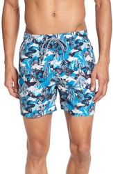 Ted Baker 'S London Karner Print Swim Trunks Blue