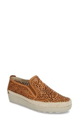 The Flexx 'S Call Me Perforated Slip On Sneaker Cognac Laser Cut Leather