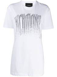 John Richmond Studded Logo T Shirt White