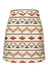 Roma Aztec Mini Skirt By Jovonna Multi