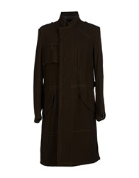 Marithe' F. Girbaud Marithe Francois Girbaud Full Length Jackets Dark Brown