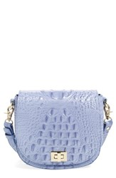Brahmin Mini Sonny Leather Crossbody Bag Blue Sea Glass