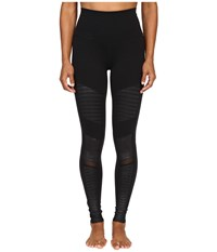 Alo Yoga High Waisted Moto Leggings Black Women's Workout