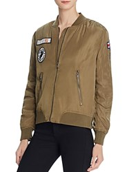 Vintage Havana Army Satin Bomber Jacket Washed Army