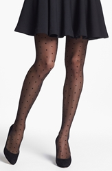 Nordstrom 'Sheer Dot' Control Top Pantyhose 3 For 30 Black Black